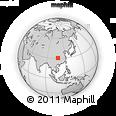 Outline Map of Wanxian, rectangular outline