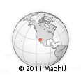 Outline Map of Plaza Fatima, rectangular outline