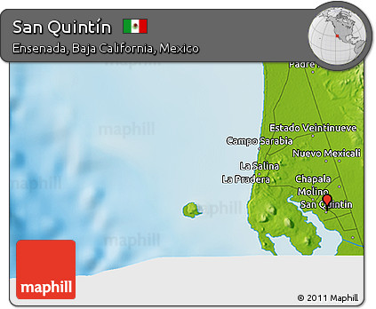Free Physical 3d Map Of San Quintin