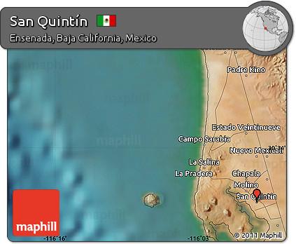 Free Satellite Map Of San Quintin