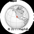 Outline Map of Camalú, rectangular outline