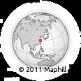 Outline Map of Anji, rectangular outline