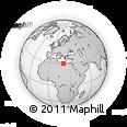 Outline Map of Ajdābiyā, rectangular outline