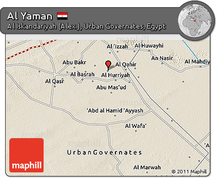 Free Shaded Relief 3D Map of Al Yaman