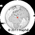 Outline Map of Hihyā, rectangular outline