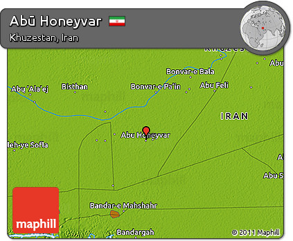 Physical 3D Map of Abū Honeyvar
