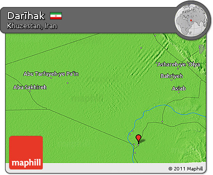 Political 3D Map of Darīhak