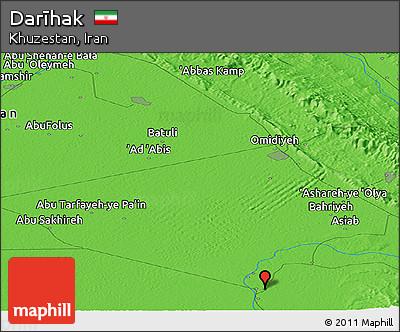 Political Panoramic Map of Darīhak
