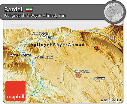 Physical 3D Map of Bardal