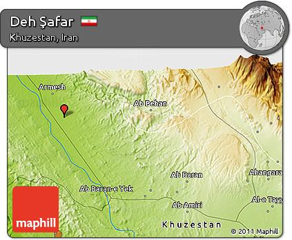 Physical 3D Map of Deh Şafar