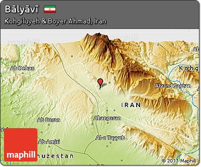 Physical 3D Map of Bālyāvī