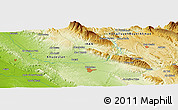 Physical Panoramic Map of Balūţ Bangān