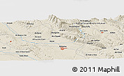 Shaded Relief Panoramic Map of Balūţ Bangān