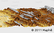 Physical Panoramic Map of Cheshmeh Anjīrī