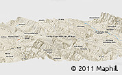 "Shaded Relief Panoramic Map of the area around 30° 42' 29"" N, 51° 4' 30"" E"