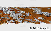 "Physical Panoramic Map of the area around 30° 42' 29"" N, 51° 55' 29"" E"