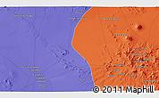 Political 3D Map of Nārzū'īyeh
