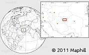Blank Location Map of Nārzū'īyeh