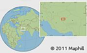 Savanna Style Location Map of Nārzū'īyeh