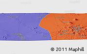 Political Panoramic Map of Nārzū'īyeh