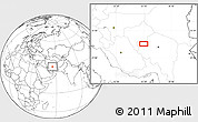 Blank Location Map of `Abbāsābād-e Amīn