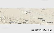 Shaded Relief Panoramic Map of Aḩmadābād-e Da'feh