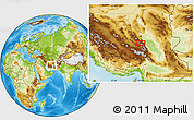 Physical Location Map of Sarangū