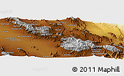 """Physical Panoramic Map of the area around 30°42'29""""N,57°1'29""""E"""