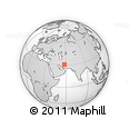 """Outline Map of the Area around 30° 42' 29"""" N, 57° 52' 30"""" E, rectangular outline"""