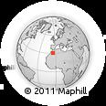 Outline Map of Zagour, rectangular outline