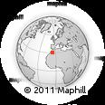 Outline Map of Tazzarine, rectangular outline