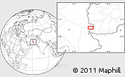 """Blank Location Map of the area around 30°42'29""""N,61°16'29""""E"""