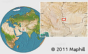 """Satellite Location Map of the area around 30°42'29""""N,61°16'29""""E"""