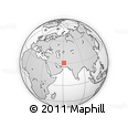 """Outline Map of the Area around 30° 42' 29"""" N, 61° 16' 29"""" E, rectangular outline"""