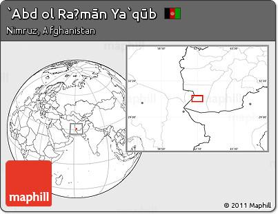 Blank Location Map of `Abd Ol Raḩmān Ya`qūb
