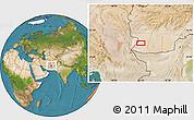 Satellite Location Map of `Abd ol Raḩmān Ya`qūb