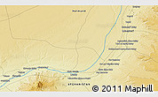 """Physical 3D Map of the area around 30°42'29""""N,63°49'30""""E"""