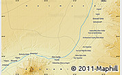 """Physical Map of the area around 30°42'29""""N,63°49'30""""E"""