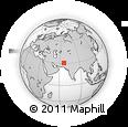 Outline Map of Shīrjān Kalay, rectangular outline
