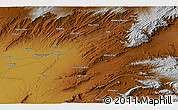 """Physical 3D Map of the area around 30°42'29""""N,67°13'29""""E"""