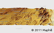 "Physical Panoramic Map of the area around 30° 42' 29"" N, 69° 46' 30"" E"