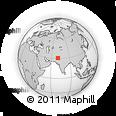 Outline Map of Taunsa, rectangular outline