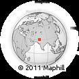Outline Map of Choubara, rectangular outline
