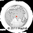 Outline Map of Fatehpur, rectangular outline