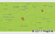 """Physical 3D Map of the area around 30°42'29""""N,73°10'30""""E"""
