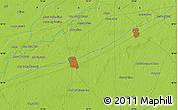 """Physical Map of the area around 30°42'29""""N,73°10'30""""E"""