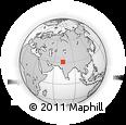Outline Map of Māmu Kānjan, rectangular outline