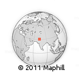 Outline Map of Sahiwal, rectangular outline
