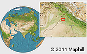 """Satellite Location Map of the area around 30°42'29""""N,74°52'30""""E"""