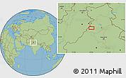 "Savanna Style Location Map of the area around 30°42'29""N,74°52'30""E"